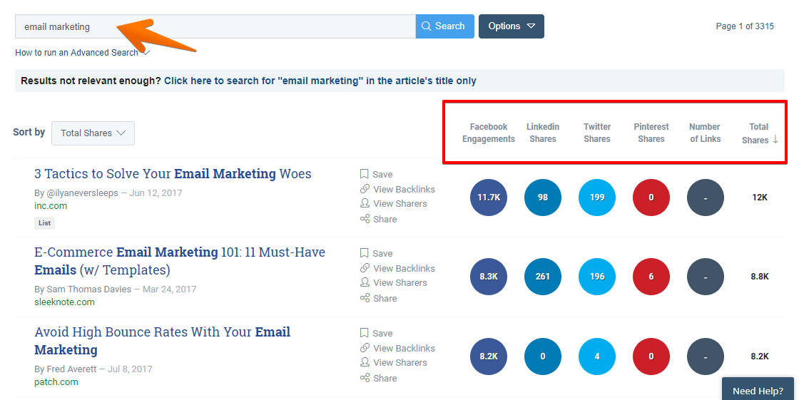 buzzsumo example search