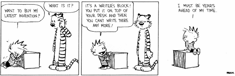writer's block comic