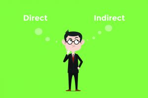 direct and indirect graphic