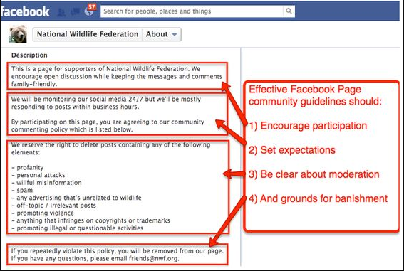 Facebook community guidelines